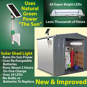 Outdoor solar powered shed light yard garden buy it now outdoor solar powered shed light aloadofball Images